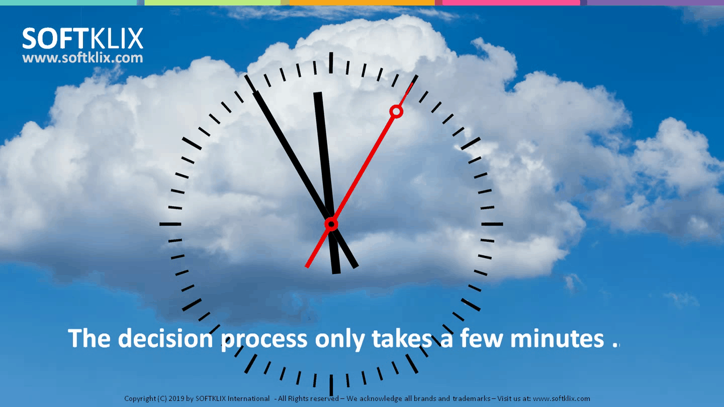 decision time - it only takes minutes